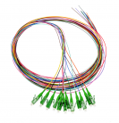 OPTON 12 colorful pigtail LC/UPC SM 0.9mm 1.5m G657A2 - OP-PIG-LPSM-09-12CA2
