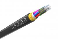 Opton ADSS-XOTKtsdD optisches overhead Glasfaserkabel 12J 2T6F, G.652.D, 4 kN, span 80 m - OP-ADSS-XOTKTSDD-12F